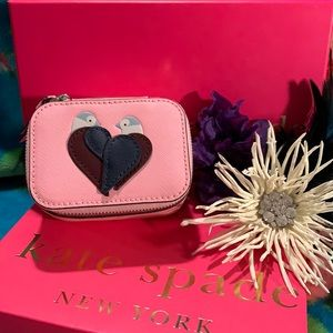 NWT! Leather Kate Spade Love Birds Jewelry Holder